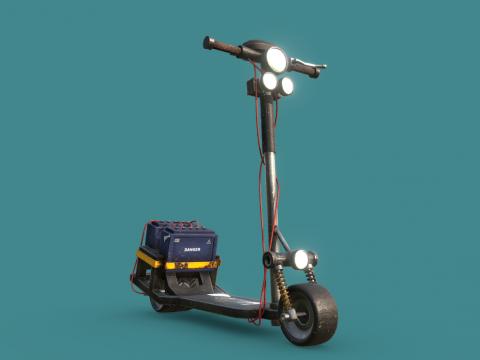 Cyberpunk Scooter