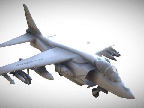 Harrier II 3D model