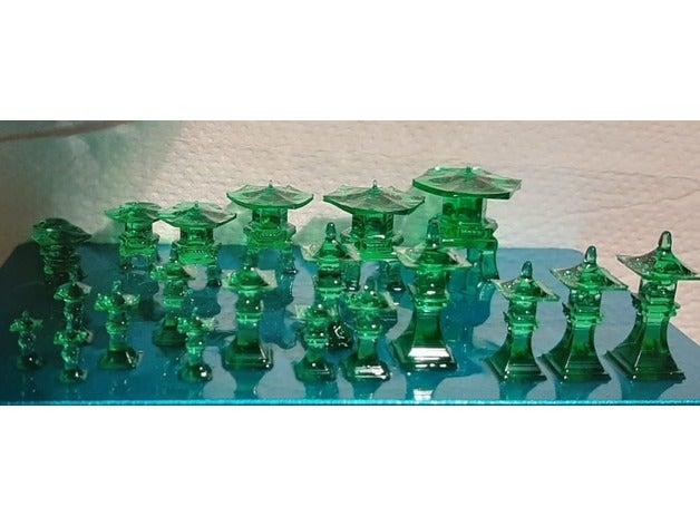 Japanese Stone lamps