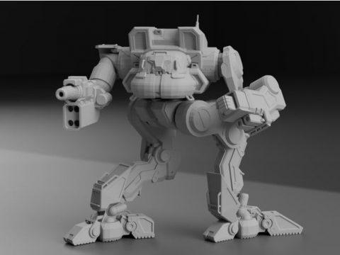 """KTF-Prime """"Kit Fox"""" AKA Uller for Battletech"""