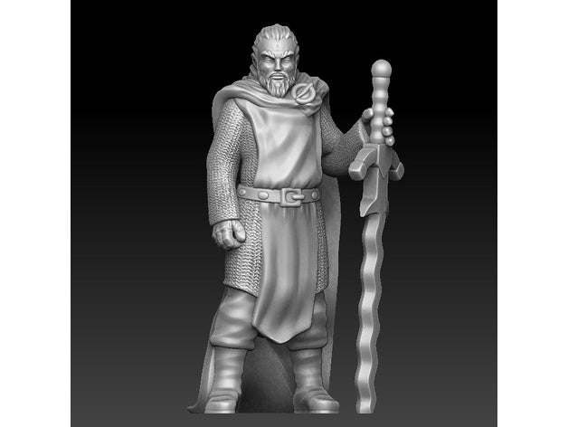 Knight templar with a two-handed sword