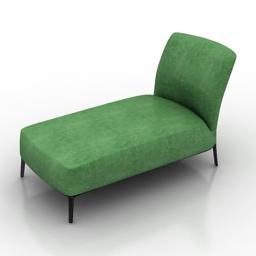 Green Lounge 3d model free
