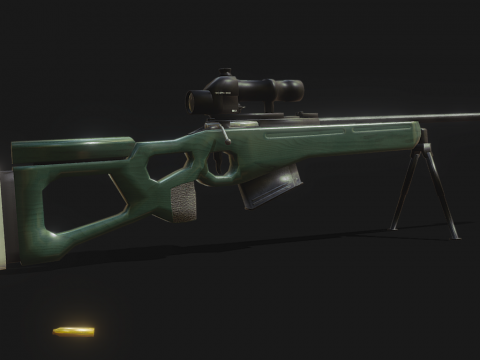 SV-98 Sniper Rifle with PKS-07 Scope
