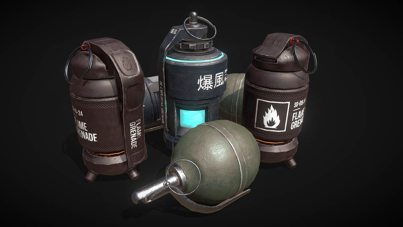 Set of grenades (Plasma, Flame and AP grenades)