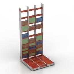 Shelf for bar loft 3d model