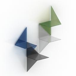 Shelves Adonde 3d model