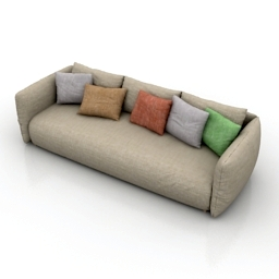Sofa pillows 3d model