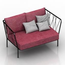 Sofa tsinos 3d model