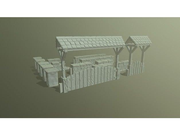 Stone walls set