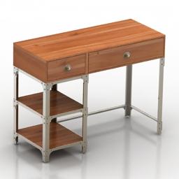 Table desk old 3d model