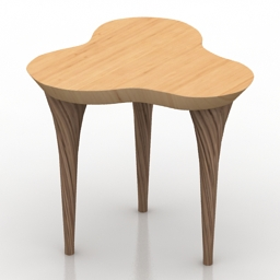 Table trifoglio massimiliano caviasca 3d model