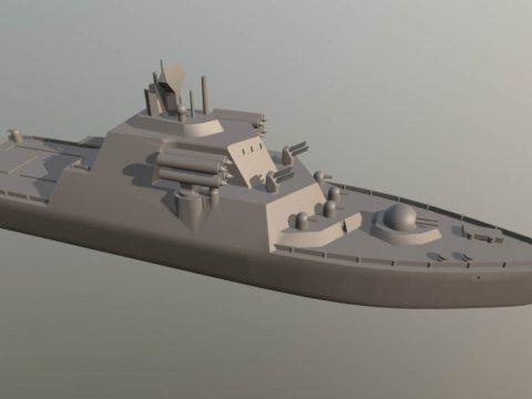 Warship 3D model