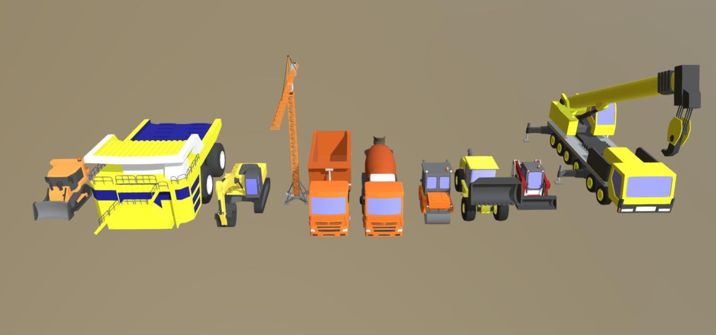 Спецтехника 3d модель строительное навесное оборудование для мтз