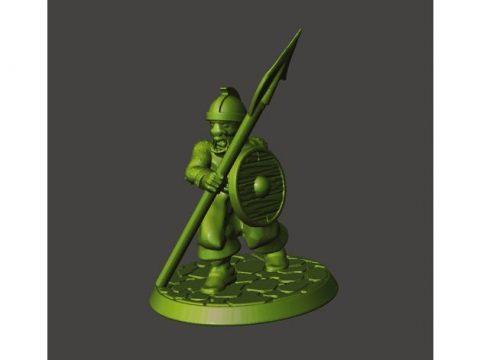28mm - Orc / Goblin / Hobgoblin with Spear / Pike
