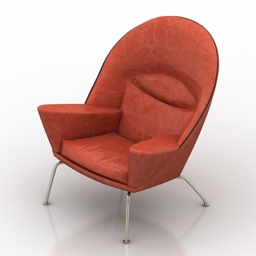 Armchair Carl Hansen CH468 3d model