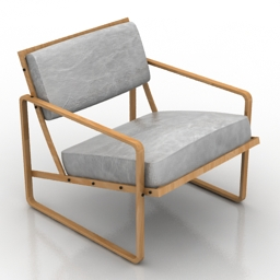 Armchair Custom Lounge 3d model