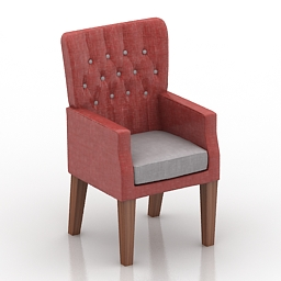 Armchair cafe 3d model