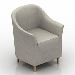 Armchair cover 3d model