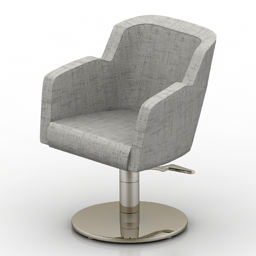Armchair office fabric 3d model