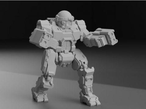 "COM-TDK Commando ""The Death's Knell"" for Battletech - Redux"