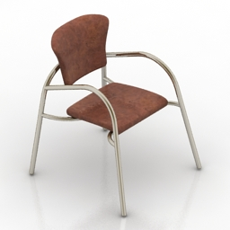Chair Metallic 3d model