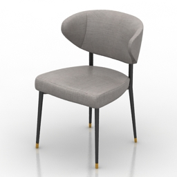 Chair Minotti Mills 3d model
