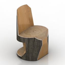 Chair log 3d model