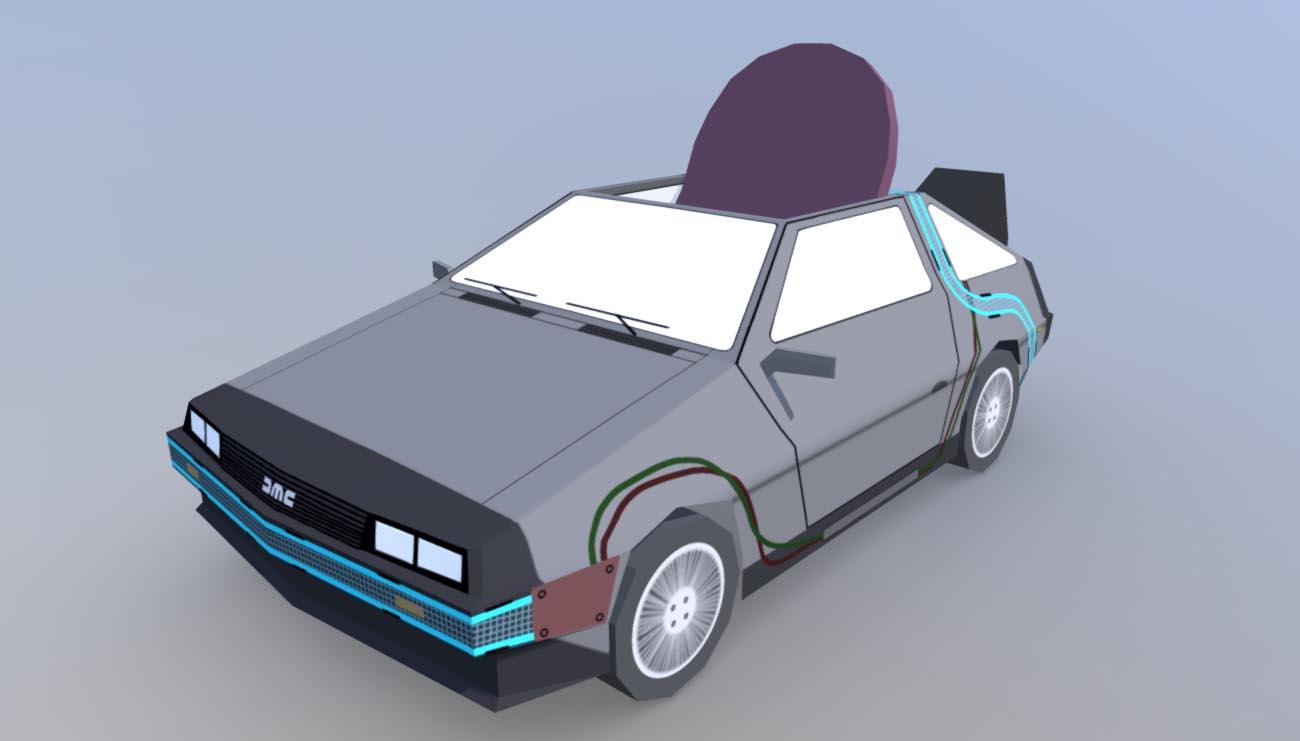 DeLorean 3D model