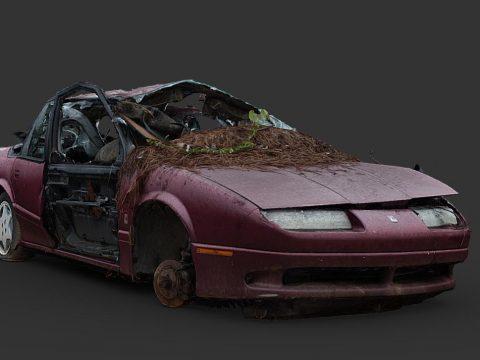 Destroyed Car 06 (Raw Scan)