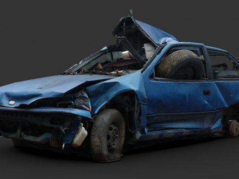 Destroyed Car 07 (Raw Scan)