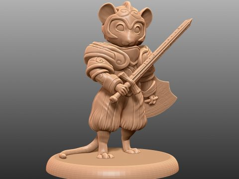 Mouse Knight - Tabletop Miniature