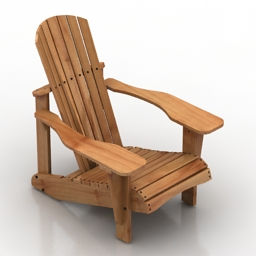 Armchair Adirondack 3d model