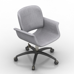 Armchair Hughes Leather Office 3d model