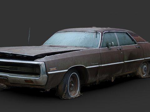 Brown Sedan (Free Raw Scan)