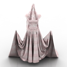 Dress Wedding 3d model