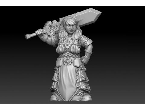 Dwarven warrior remake of PollyGrimms female dwarf warrior
