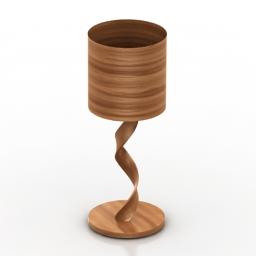 Lamp wood 3d model