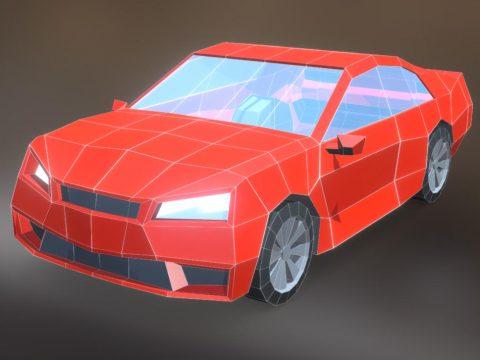 Low Poly Sports Car