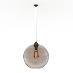 Luster Solitaire Pendant Lamp 3d model
