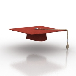 Mortar board 3d model