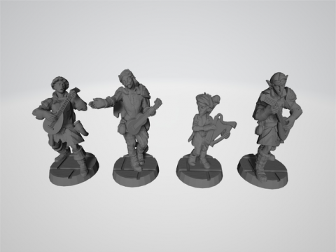 RPG Miniature - Bards