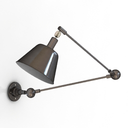 Sconce Triplex Wall Light 3d model