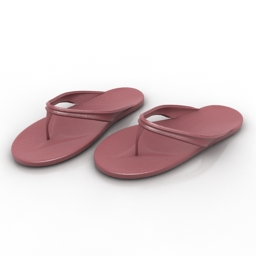 Shoes slippers 3d model