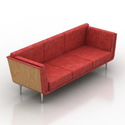 Sofa Goetz herman miller 3d model