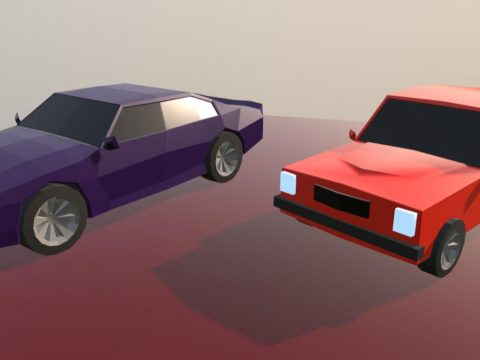 Two Low Poly Cars