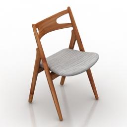 Chair Carl Hansen Sawbuck 3d model