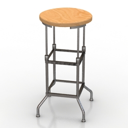 Chair bar RESTORATION HARDWARE 1920 AMERCIAN FACTORY 3d model