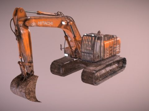 Excavator - Muddy and Dirty