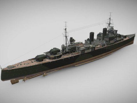 London - Tier VI Premium British Heavy Cruiser