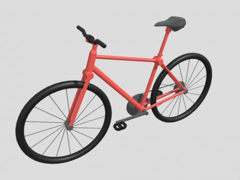 Low Poly Bycicle